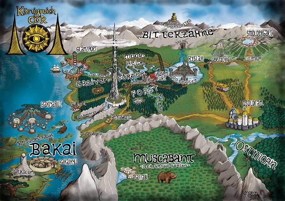Klicke auf wichtige Punkte der Landkarte, um mehr zu erfahren!